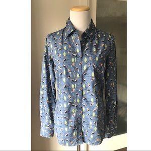 Boden button up shirt with birds